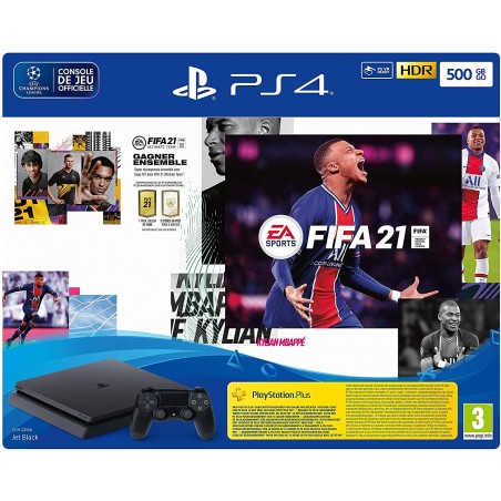 CONSOLE SONY PS4 500GB+FIFA 21+VOUCH FUT